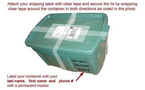 Attaching your shipping label to your container
